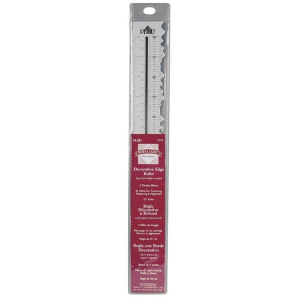 Dual Deckle Edge Decorative Ruler-12 Inch