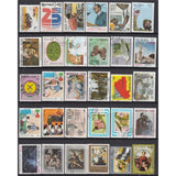 Postage Stamps 300 Piece Collections From All Over The World With Post Mark Stamp Postal Used For Collecting and Mixed Media Art Collage Artwork