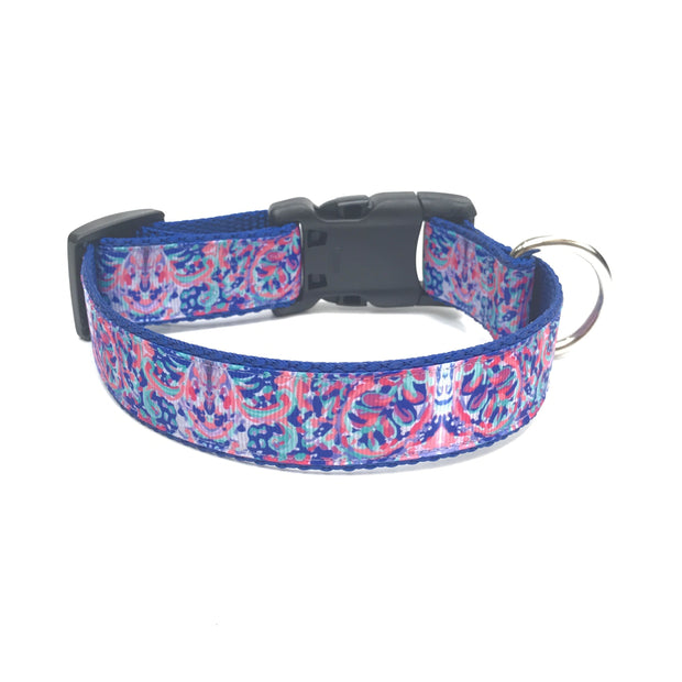 'Pastel Petal' Lilly Pulitzer Inspired Dog Collar