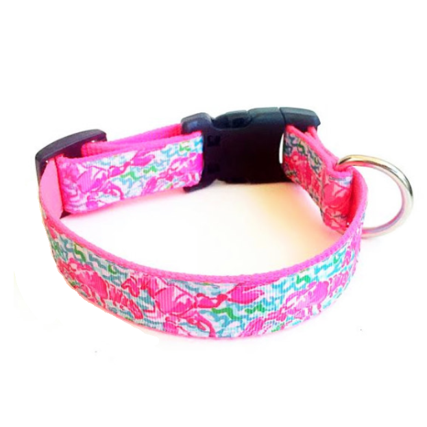 'Lobster Lady' Lilly Pulitzer Inspired Dog Collar