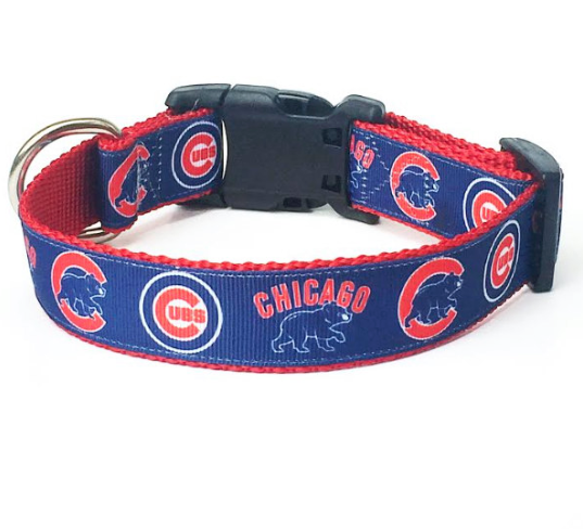 Chicago Cubs MLB Dog Collar
