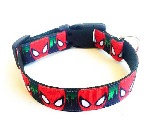 Spiderman Inspired Dog Collar