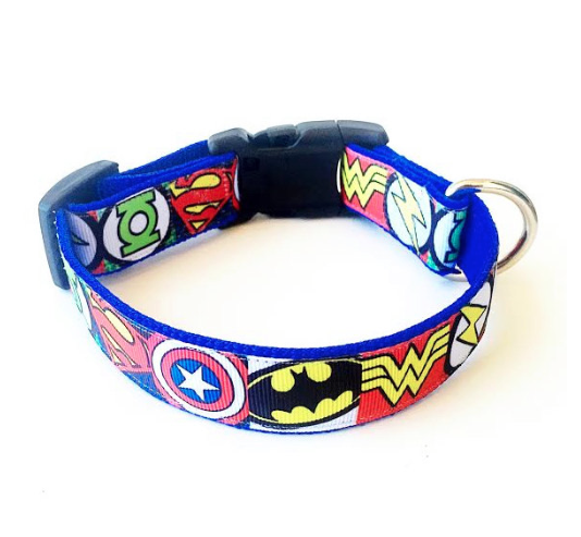 Comic Book Logo Inspired Dog Collar