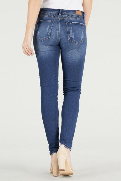 Carol Destroyed Moto Skinny Jeans - Judy Blue