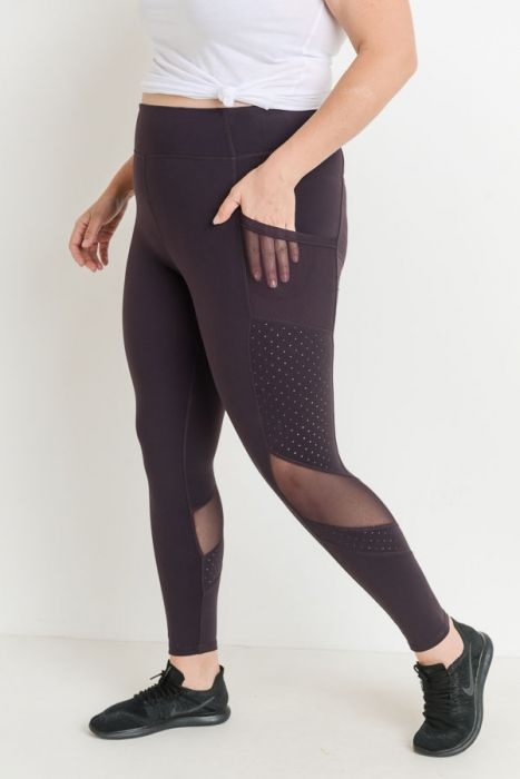 Highwaist Dot Mesh Full Length (S-2XL)