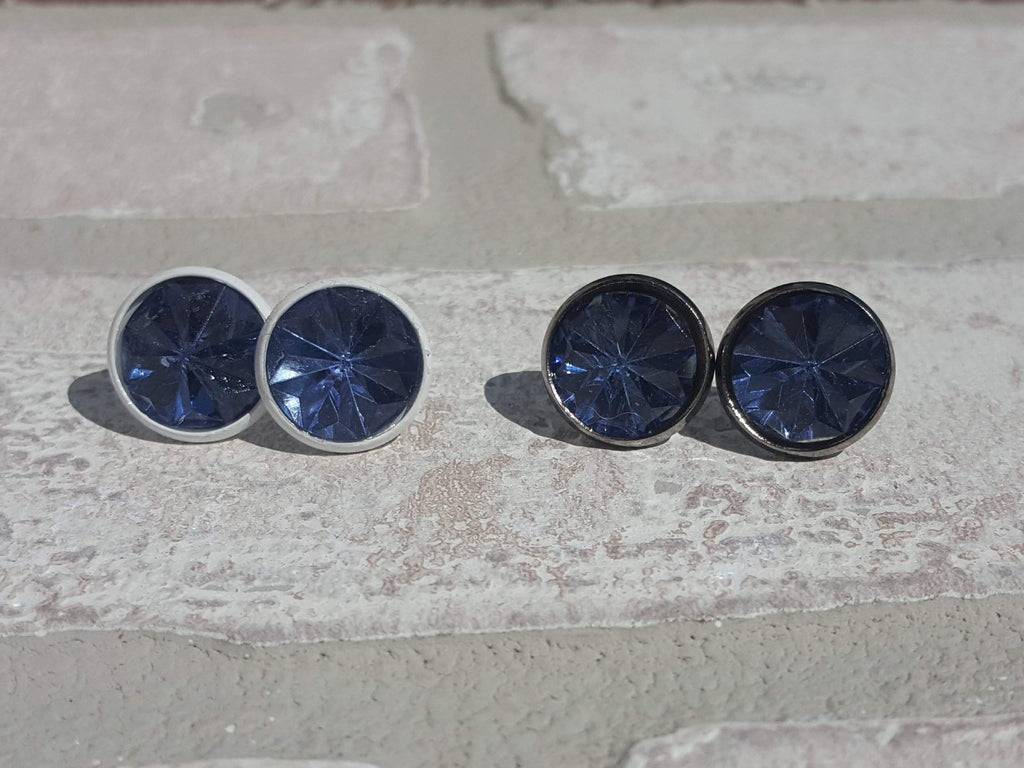 Blue Starburst Stone Earrings-Jewelry-Moonshine and Lace Boutique