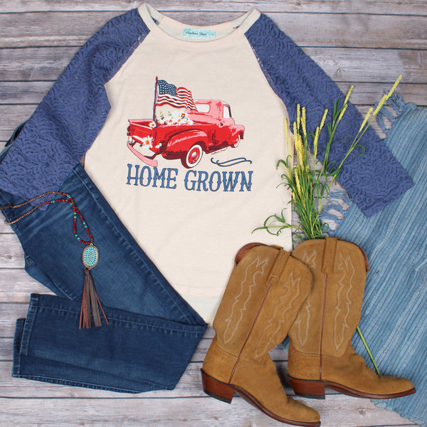 Home Grown Raglan-Graphic Tee-Moonshine and Lace Boutique