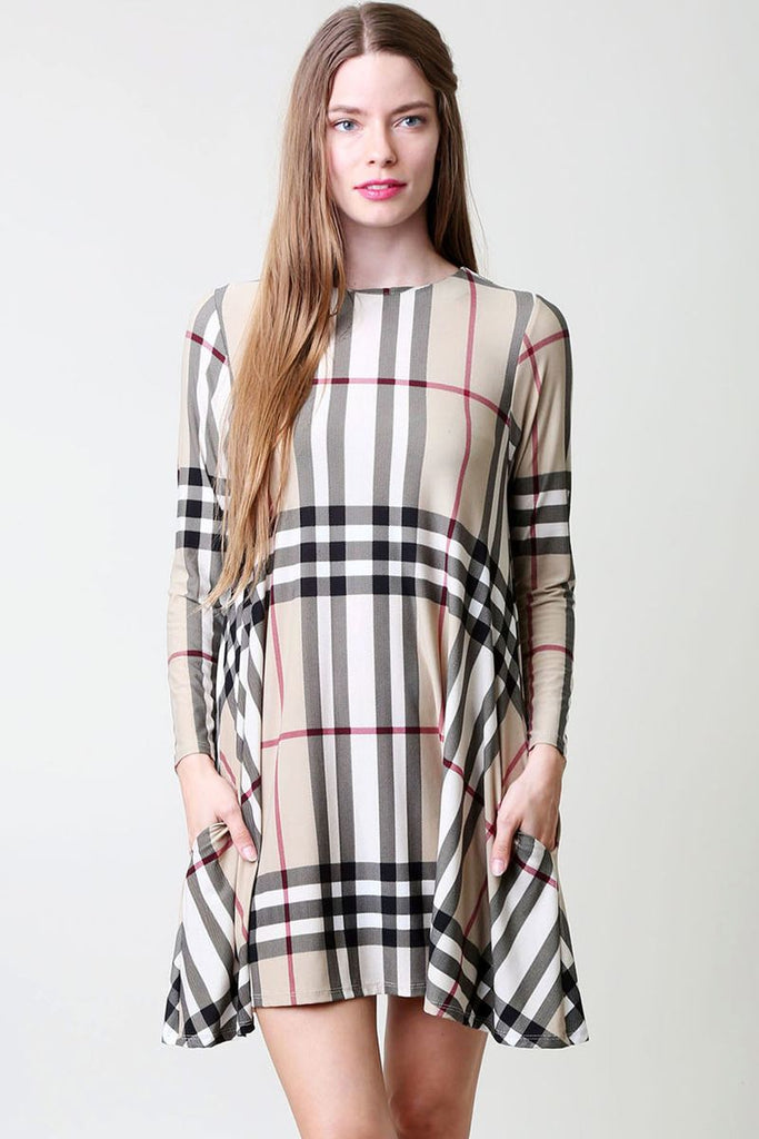 Mad For Plaid Pocket Dress/Tunic-Dress/Tunic-Moonshine and Lace Boutique