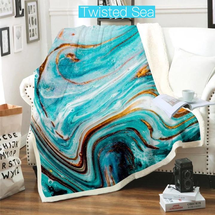 Plush Blanket Twisted Sea