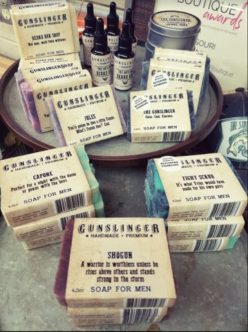Gunslinger Soap for Men-Gifts-Moonshine and Lace Boutique