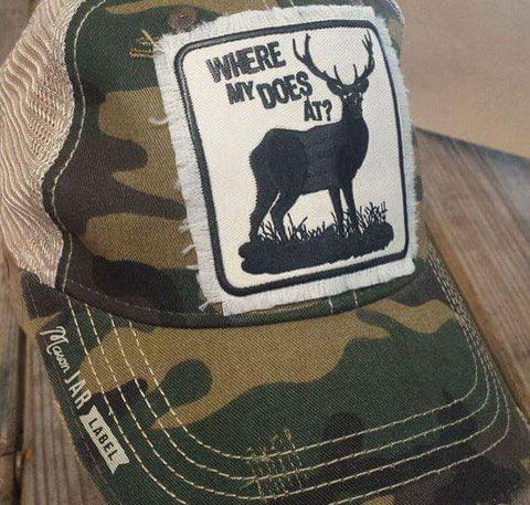 Where My Does At Hat-Hats-Moonshine and Lace Boutique