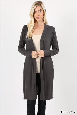 "Open Front Longline Cardigan - 36""/38""-Cardigan-Moonshine and Lace Boutique"
