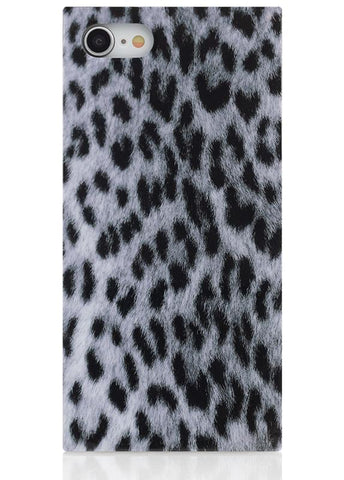 Snow Leopard Square Phone Case