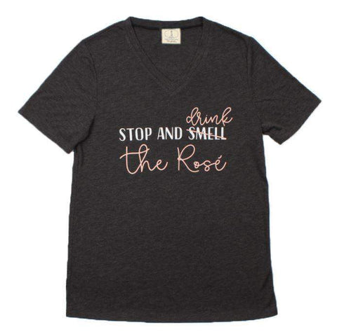 Drink the Rose` Tee-Graphic Tee-Moonshine and Lace Boutique
