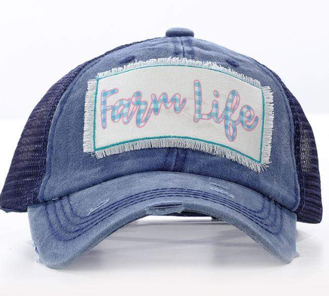 Farm Life Trucker Style Hat-Hats-Moonshine and Lace Boutique