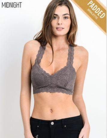 Bralette Padded - Midnight-Basics-Moonshine and Lace Boutique