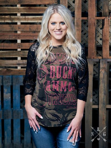 Camo & Bucks, Ammo & Trucks-Graphic Tee-Moonshine and Lace Boutique