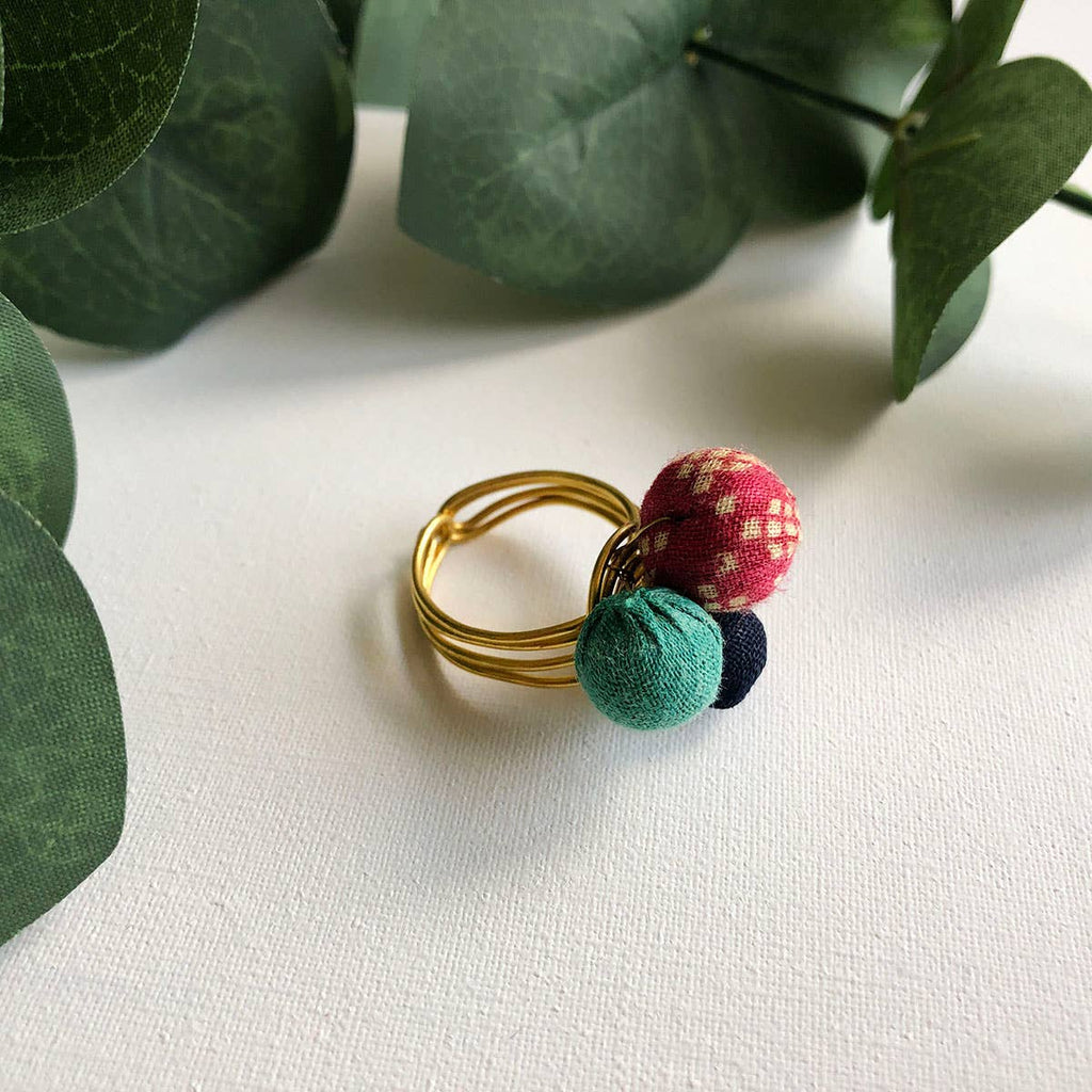 Kantha Trio Ring