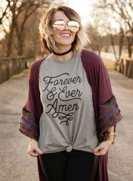 Forever and Ever Amen Graphic Tee-Graphic Tee-Moonshine and Lace Boutique