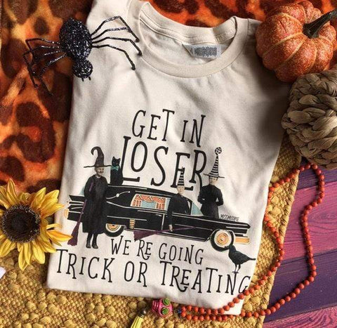 Get in Loser We're Going trick or Treating Tee (S-3XL)