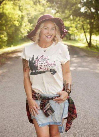 Lord Willin' & The Creeks Don't Rise Graphic Tee-Graphic Tee-Moonshine and Lace Boutique