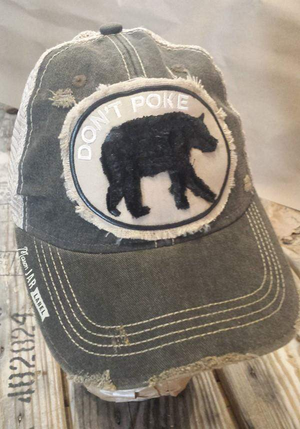 Don't Poke Bear Hat-Hats-Moonshine and Lace Boutique