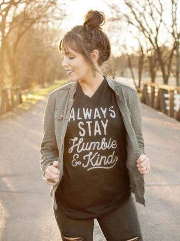 Always Stay Humble and Kind Graphic Tee-Graphic Tee-Moonshine and Lace Boutique