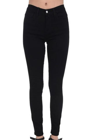 Dolly High Waist Skinny Black Jeans (3-3XL)