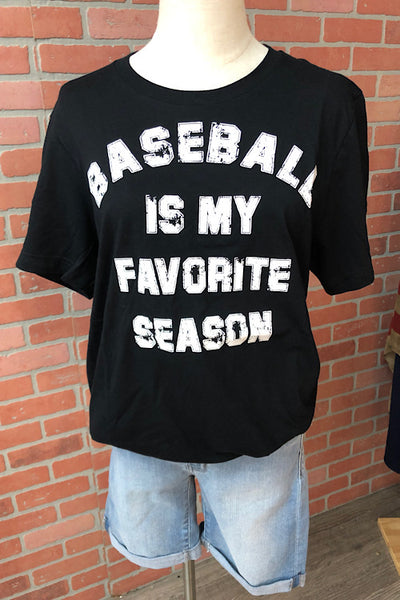 Baseball Is My Favorite Tee (S-2XL)