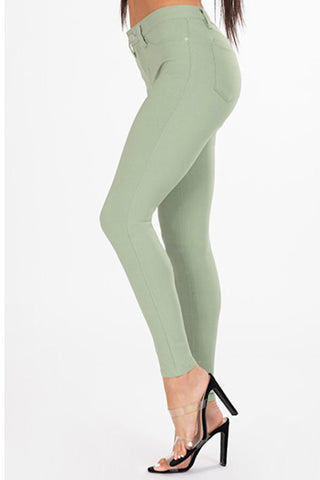 Hyperstretch Mid-Rise Skinny Jean - Watercress