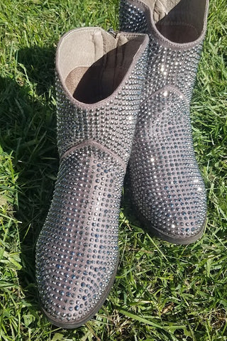 Blinged Out Short Boot