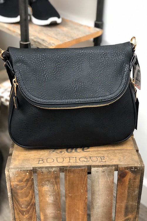 Marissa Expandable Crossbody - Black