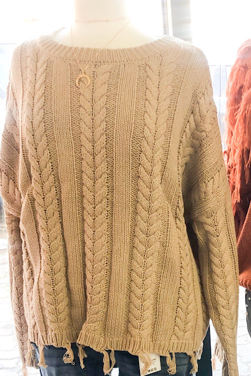 Cleo - Knit Pullover Sweater