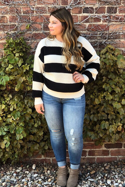 Cara - Wide Stripe Sweater