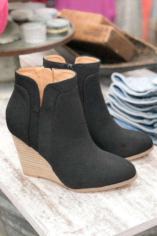 Sydney Wedge Bootie - Black