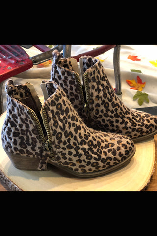 Haley- Hair On Leopard Short Boot