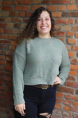 Jane Long Sleeve Sweater - Smoke Green