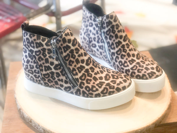 Taylor- Wedge Sneaker-Cheetah