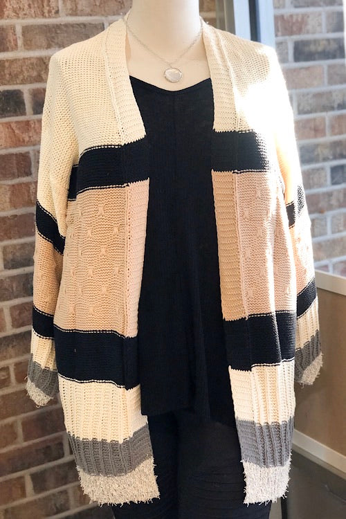 Connie - Patch Open Cardigan
