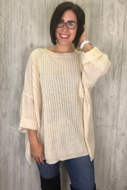 Hyden - Chunky Oversized Sweater - Natural