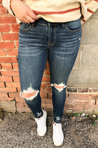 Jolene - Judy Blue Destroyed Skinny Jean