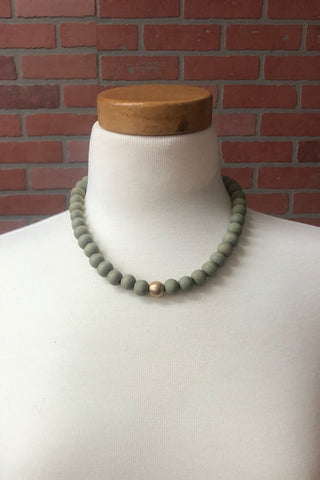 Bamboo Beaded Necklace