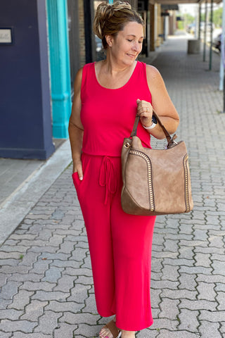 Tiana Jumpsuit- Ruby