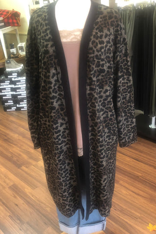 Kay Long Animal Print Cardigan