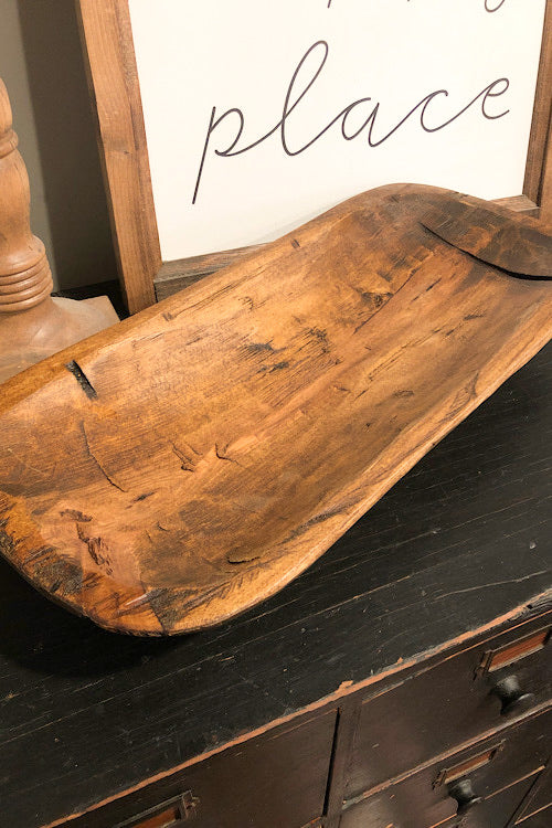 Large Dough Bowl- Brown