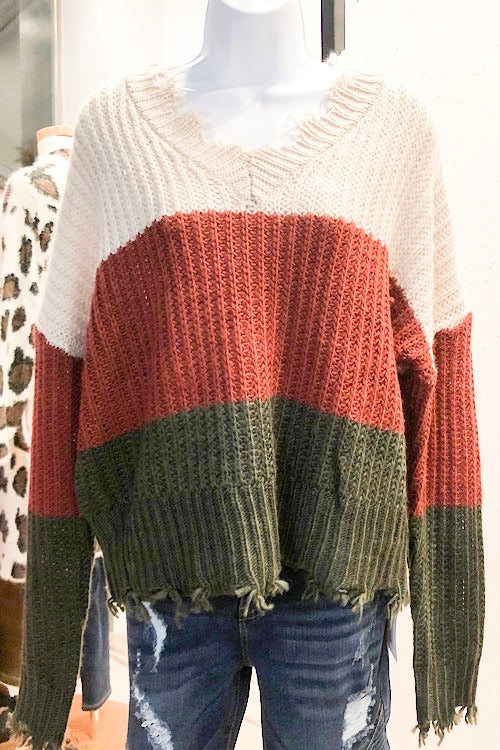 Ellie- 3 Tone Sweater