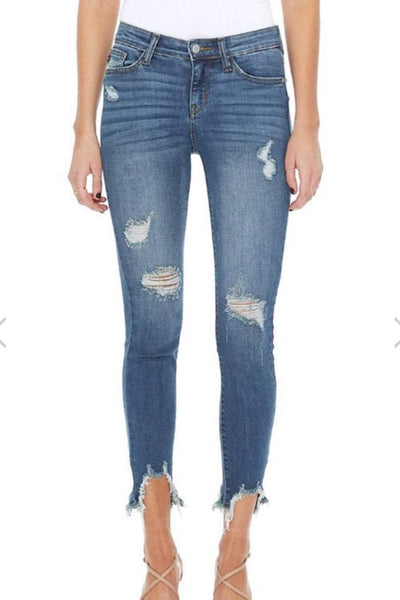 Jada Judy Blue Destroyed Hem Skinny Jean (1-24)