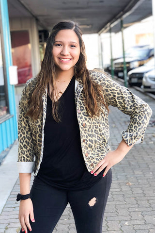 Leopard Jacket By Judy Blue (S-3XL)
