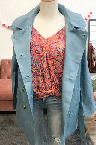 Eliane Jacket- Blue Grey