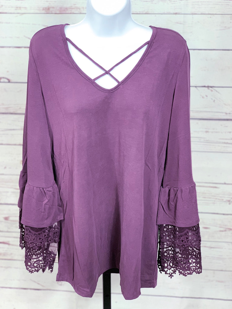 Emilia Ruffled Laced Sleeve Top